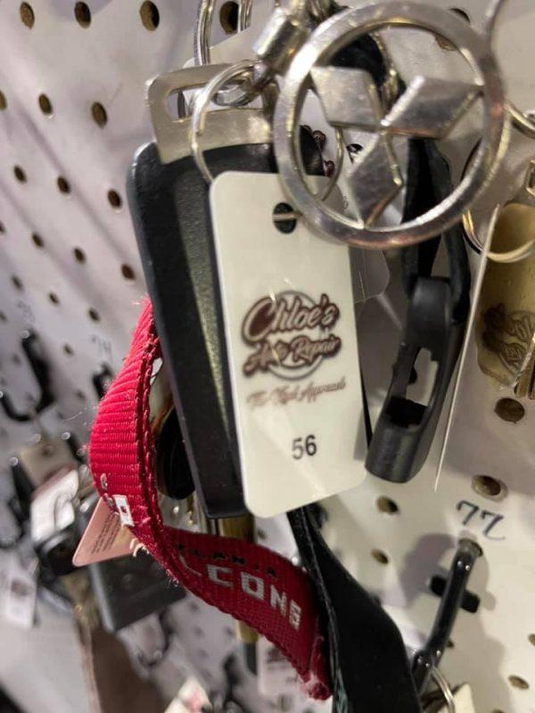 Chloe's keys, closeup