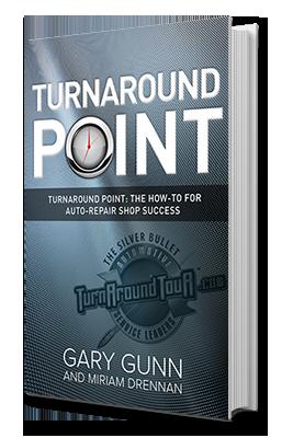 Turnaround Point book by Gary Gunn - help for auto repair shop business